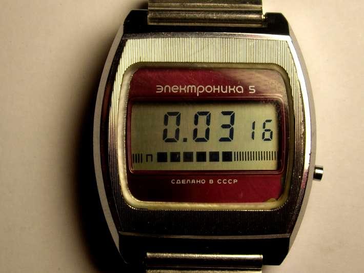 наручные часы электроника 77
