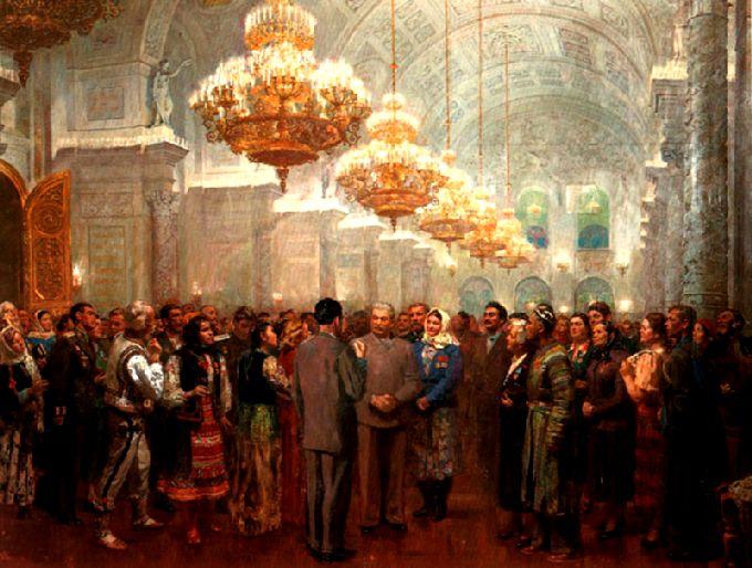 Картины с И.В.Сталиным