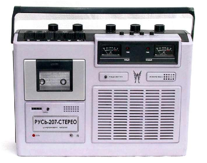 Принципиальная схема кассетного магнитофона Весна-207.
