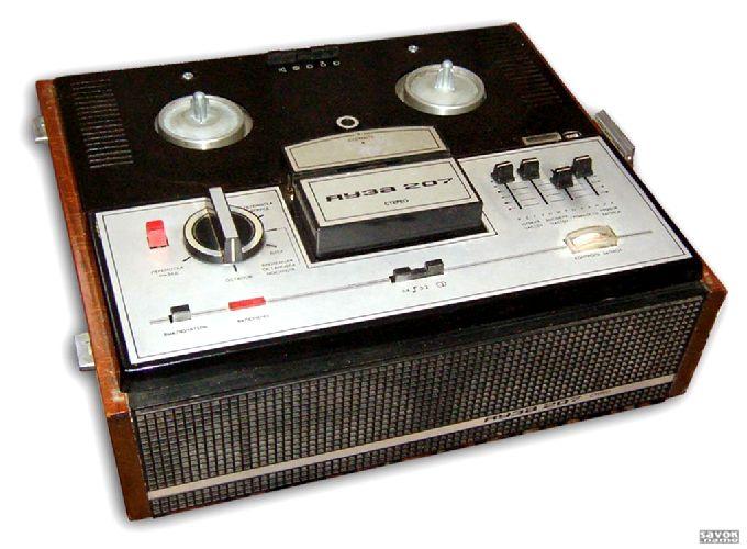 """Четырехдорожечный, катушечный 2 скоростной стереофонический магнитофон 2 класса  """"Яуза-207 """" разработан..."""