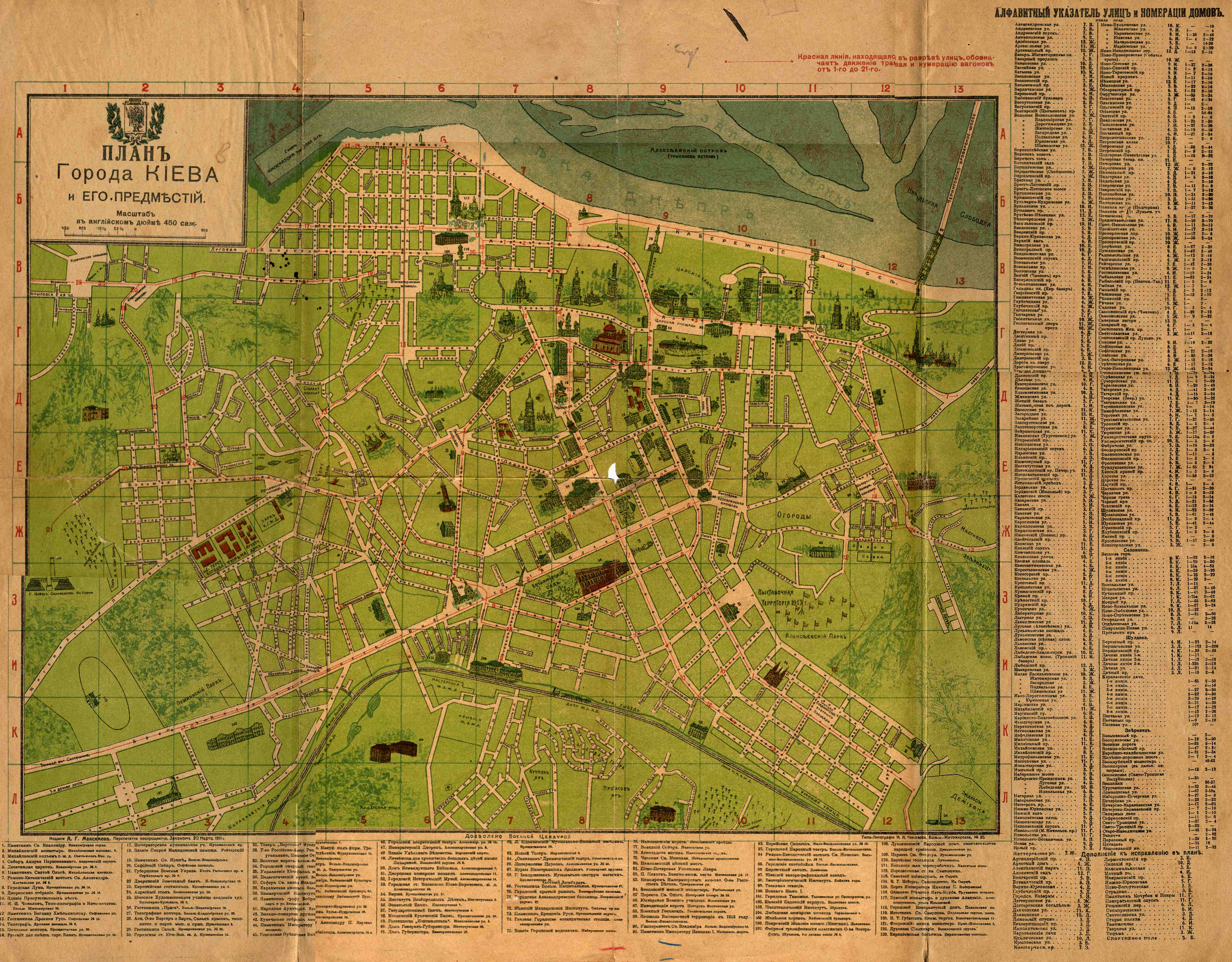 Города киева и его окрестностей 1905 год
