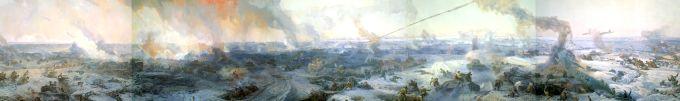 Панорамные картины Великой Отечественной войны (10 работ) .