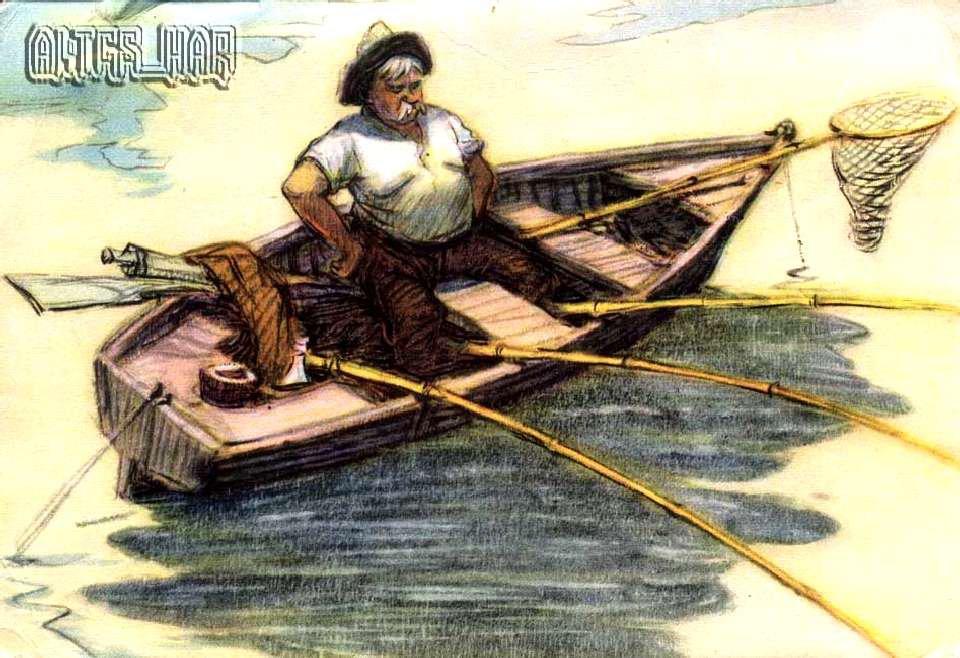 о рыбалке в лодке в стихах