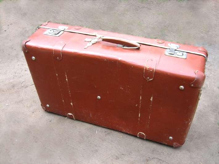 Настоящий чемодан, и без колесиков.