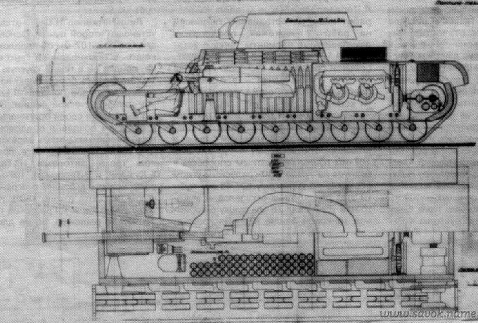 Проектного чертежа танка кв 4