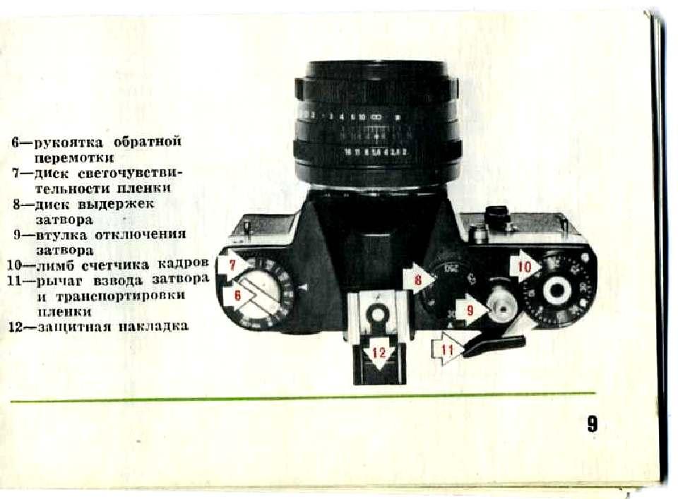 Инструкция фотоаппарат зенитe